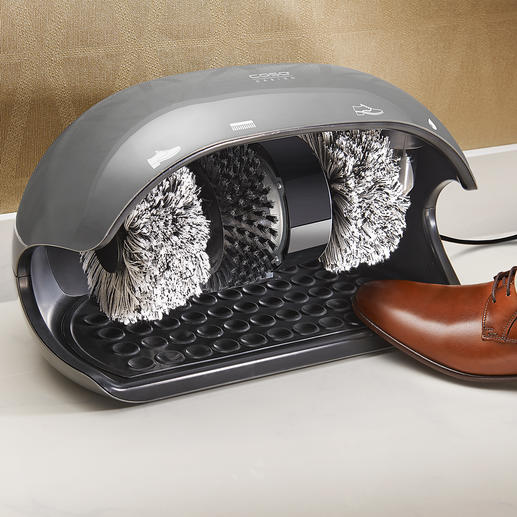 Caso schoenpoetsapparaat Elke dag: schone schoenen alsof ze net gepoetst zijn. Binnen enkele seconden. Voor een geweldige prijs.