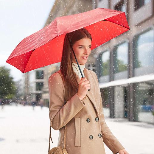 Ultralichte paraplu van 99 g Waarschijnlijk de lichtste zakparaplu ter wereld.