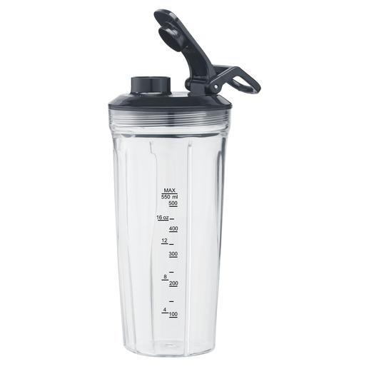 550 ml-mixeropzet (16.000 tpm) van Tritan met bijpassende drinkdeksel voor smoothies, soepen, shakes, het malen van noten of bak-ingrediënten ...