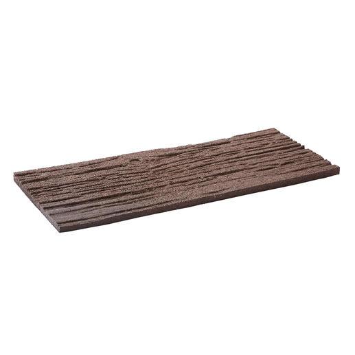 Bruine planken in spoorbiels-look.