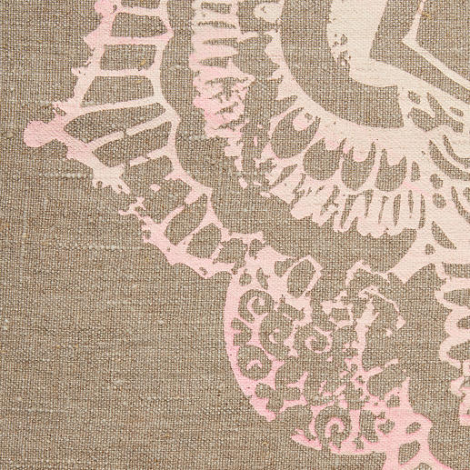 Volledig met de hand aangebrachte ornamentprint met verfijnd kleurenverloop.