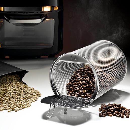 De geïntegreerde roosterfunctie roostert tot wel 250g koffiebonen perfect naar wens.