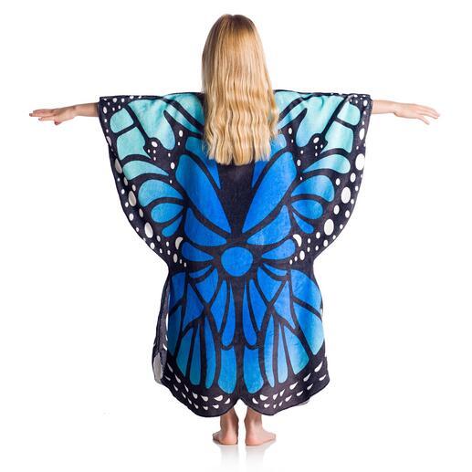 vlinder, pink/blauw