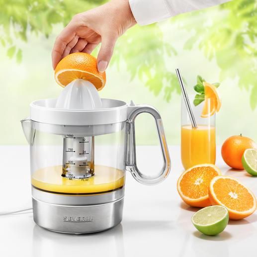 Elektrische citruspers CP 3535 40W sterk. Met XL-sapreservoir. Voor een zeer aantrekkelijke prijs.
