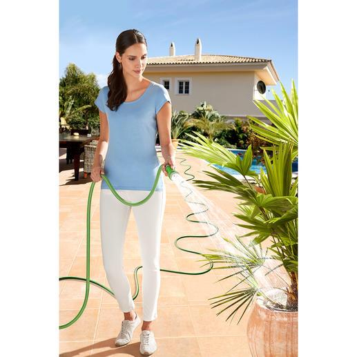Flexibele slang Wordt bij het opendraaien van de kraan automatisch langer, tot wel 3 keer zijn oorspronkelijke lengte.