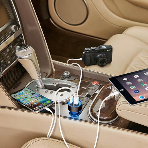 High Speed USB-autolader met 3 poorten De nieuwe generatie High Speed autolader: tot wel 4x sneller.