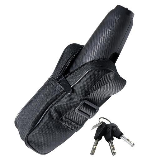 Veilig en handig op te bergen in het Cordura-tasje met riemlus (apart te bestellen).