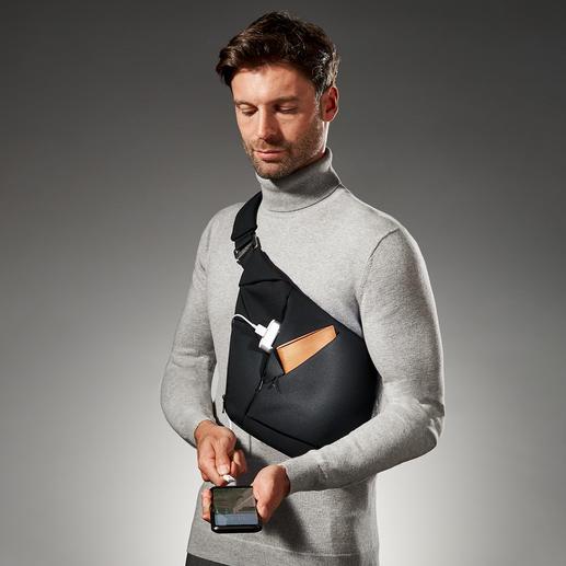 Baggizmo crossbody-tas Stijlvol en zelfs wanneer hij geheel gevuld is nog smal en plat. Ook perfect onder een jas(je) of blazer.