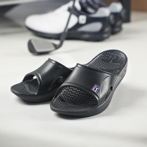 Telicregeneratie-slippers Gemaakt van Novalon™: ultralicht, thermo-actief, antiallergeen en latexvrij.