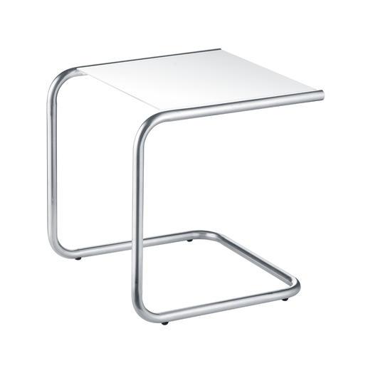 C-vormig tafeltje,wit
