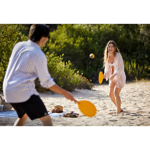 Beachball, set van 2 Designvariant van de populaire, klassieke beachballset. Hoogwaardig met de hand gemaakt in Spanje.