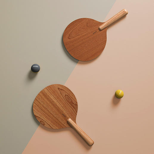 Beachball, set van 2, bruin