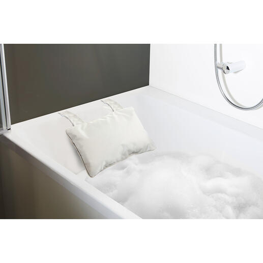 Voor een ingebouwde badkuip kiest u het kussen met zuignappen.