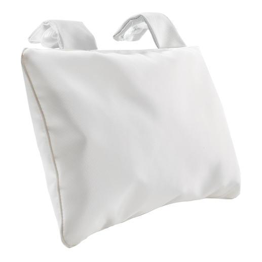 Badkussenmet zuignappen, wit