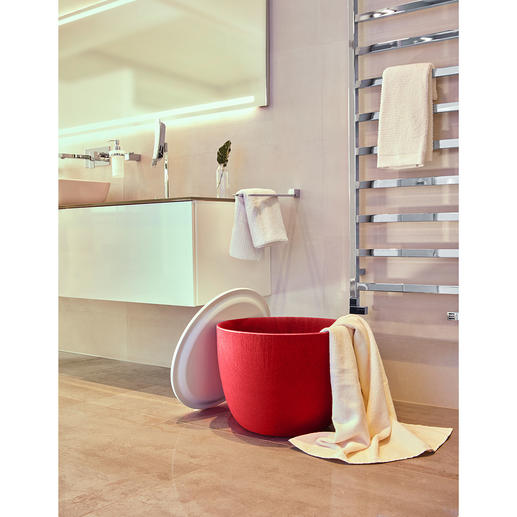 Ook ideaal voor badkamer en sauna– om uw badlakens en sportspullen in te doen.