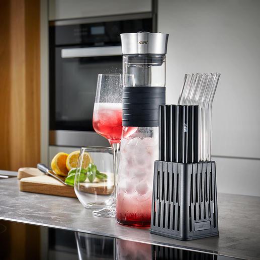 Gefu®vaatwasserinzet voor drinkrietjes De eerste vaatwasserinzet speciaal voor herbruikbare drinkrietjes.