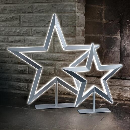 Led-ster Luxueus uitgevoerde ster met verlichting. Traploos te dimmen. Met metallic-lak. Van Villeroy & Boch.