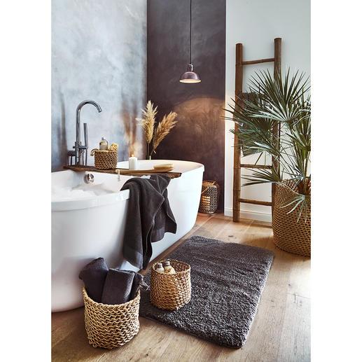 Veelzijdig te gebruiken in het hele huis: als mand voor uw badkameraccessoires, als sierpot voor uw planten en ga zo maar door.