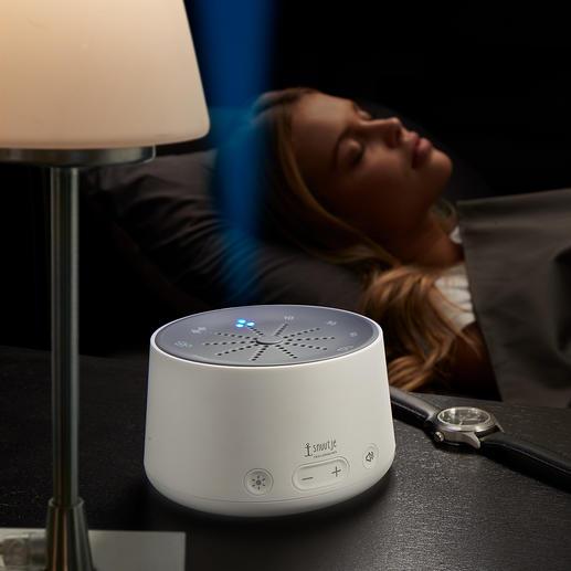 Slaaphulp Sneller in slaap vallen. Op natuurlijke wijze – met rustgevende licht- en geluidscomposities. Voor volwassenen en kinderen.