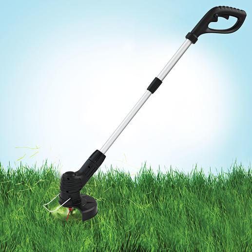 Hammersmith® snoerloze grastrimmer Bionic Supersnel het gras trimmen en de kanten snijden. Zonder kans op een gescheurde draad.