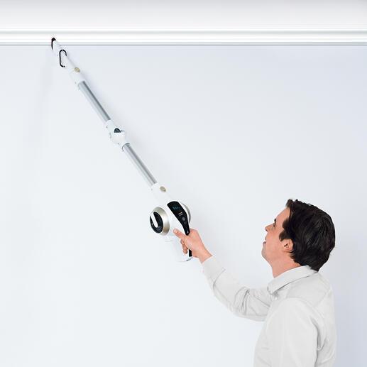 Het 3-in-1 lichtgewicht is gemakkelijk te gebruiken voor het verwijderen van spinnenwebben en stof van deurkozijnen, gordijnroedes etc.