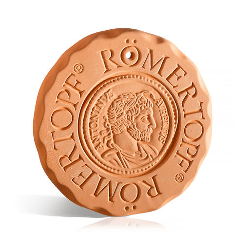 RÖMERTOPF® warmhoud- en koelplaatje De 'warm- en koelbloedige Toni' is broodjeswarmer, onderzetter, koelaccu enz. tegelijk. Origineel RÖMERTOPF®-aardewerk.