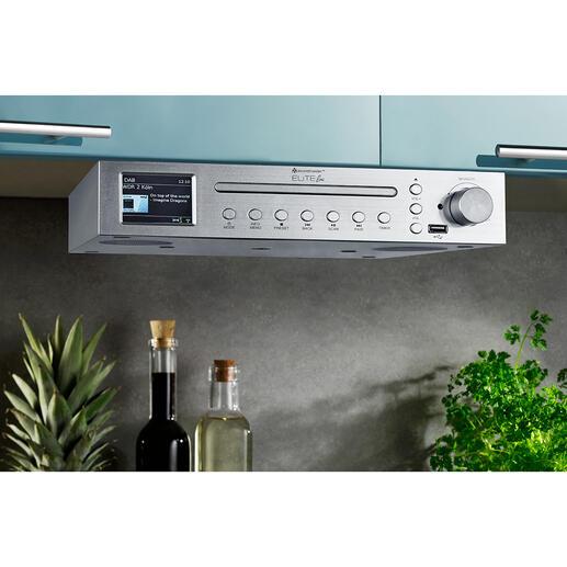Muzieksysteem voor de keuken Elite Line ICD2200SI Uw muzieksysteem voor in de keuken: stijlvol, met een krachtig geluid en zeer veelzijdig uitgevoerd.
