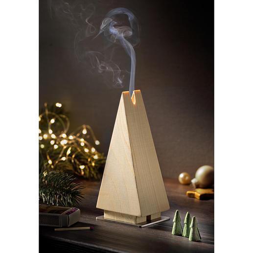 Wierookbrander 'dennenboom' Vurenhouten wierookbrander in de vorm van een dennenboom: schitterende kerstversiering in mooi minimalistisch model.