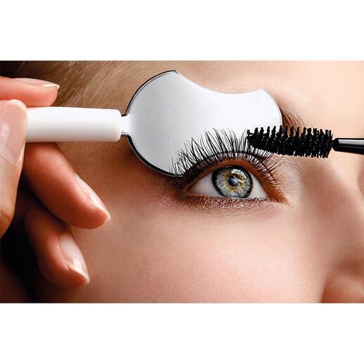 Wimperlepel Eyelash Spoon Uw wimpers worden perfect gevormd en van mascara voorzien. Zonder aan elkaar te plakken en zonder te vlekken.