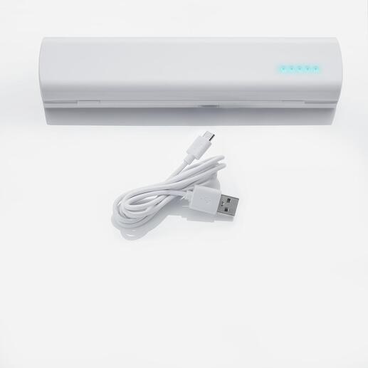 Indien u oplaadbare batterijen gebruikt, kunnen deze gemakkelijk worden opgeladen via een USB-kabel.