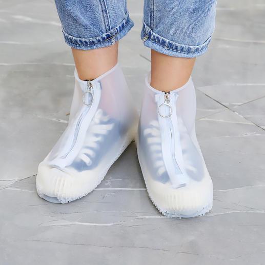 Regen-overschoen Stijlvolle bescherming tegen de regen voor je favoriete schoenen. Van transparante siliconen.
