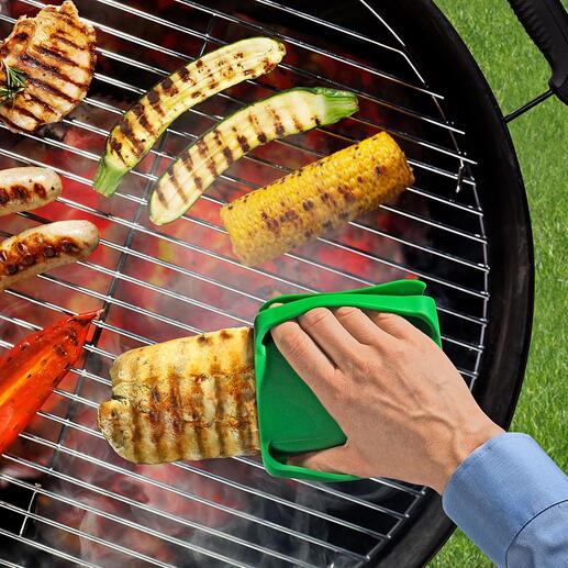 U kunt zelfs gloeiendheet vlees van de barbecue veilig vastpakken.