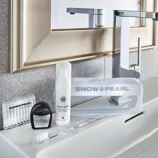 Snow Pearl verzorgings- en tandbleekkit, 5-delig Luxe voor de tanden: hoogwaardige reisset om het gebit optimaal te kunnen verzorgen en bleken.