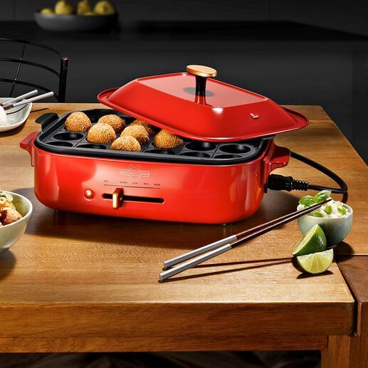 Tafelgrill/multi-braadpan Grillen, braden, koken, stomen, ... en dat allemaal met één stijlvol tafelapparaat.
