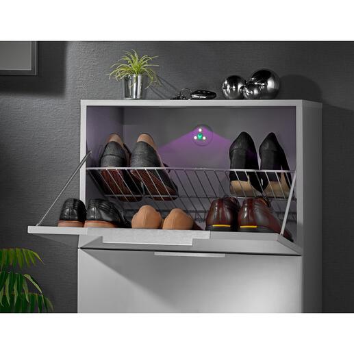UV-sterilisatie-licht Het zelfklevende apparaatje reinigt de lucht in een kast, vuilnisemmer of toilet.