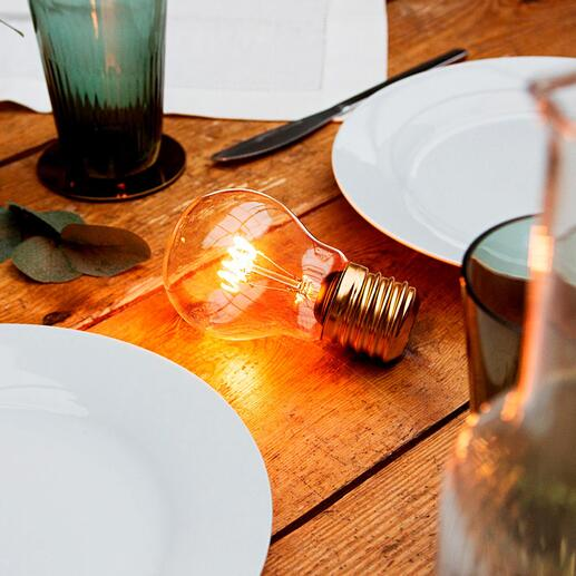 Magische gloeilamp De pure schoonheid van een klassieke gloeilamp draadloos, met moderne ledtechnologie.