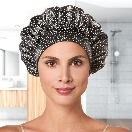 TIARA® douchemuts De betere douchemuts: houd uw haren absoluut droog, uw kapsel in model en laat geen strepen na in uw huid.