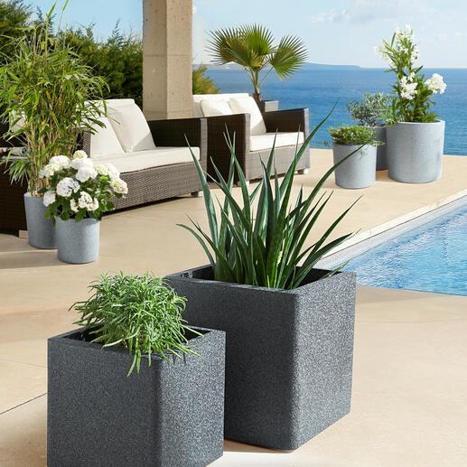 Ultralichte plantenbakken, 4-delige set De nieuwste generatie plantenbakken: ultralicht, superstevig, isolerend en recyclebaar.