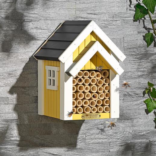 Bijenhotel Veilige broedplaats voor solitaire bijen. Decoratieve blikvanger in uw tuin.