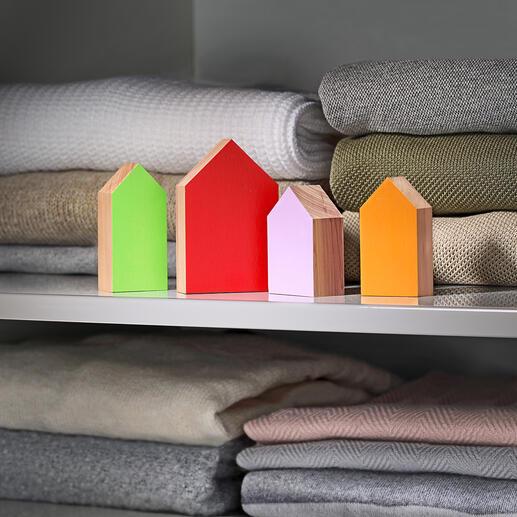 Anti-mottenhuisje, 4-delige set Weert motten uit uw kledingkast. Beschermt en verfrist uw kleding.