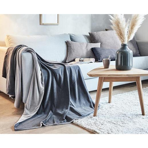 Nickydeken Zacht als fluweel, elastisch als jersey. Zorgvuldig in twee lagen verwerkt. Heerlijk comfortabel voor uw relaxmomenten.