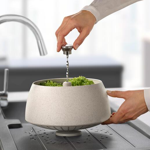 Green Tool slacentrifuge Stijlvol, functioneel en milieuvriendelijk: de slacentrifuge gemaakt van duurzaam biologisch composietmateriaal. Van Eva Solo.