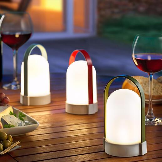 Oplaadbare lamp Piccolos, set van 3 Draagbaar, dimbaar en veelzijdig te gebruiken. Om neer te zetten en op te hangen. In set van 3.