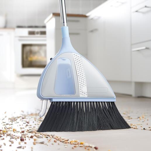 VaBroom bezem met accu en zuigfunctie Praktisch en comfortabel: in no time een schoongeveegde vloer. Zonder stoffer en blik en zonder uw rug te belasten.
