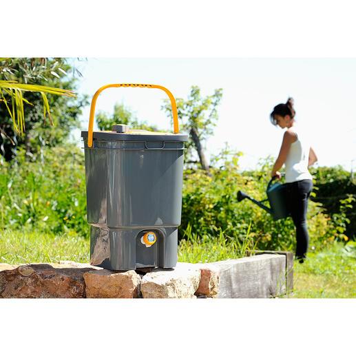 BioMix-composter voor tuinafval Tuinafval, water en de geniale BioMix – meer hebt u niet nodig.