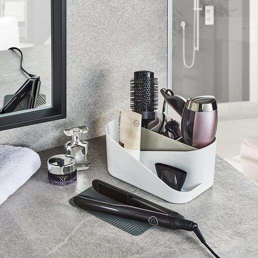 Organizer voor haarstylingtools Alle belangrijke haarstylingtools netjes bij elkaar en binnen handbereik. De betere styling-organizer met antislip-afkoelmat en uitneembaar indeel-element.