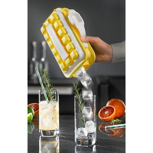 Ice-Pop ijsblokjesvorm Eén plop – en serveer 18 ijsblokjes netjes een voor een. Perfect voor in de tuin, buitenbad, picknick, ...
