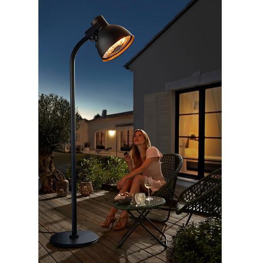 Hoberg terrasverwarmer in XXL-lampmodel Maak het gezellig op uw terras. Hiermee kunt u 's avonds nog langer buiten zitten.