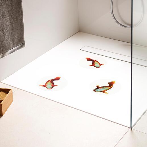 Slipvaste vloertatoeages, set van 3 Zo fraai kan veiligheid eruit zien.