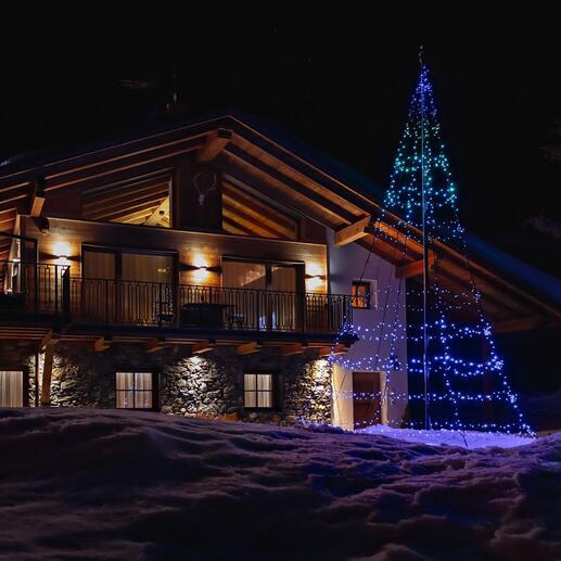 Magische lichtboom Opvallende kerstdecoratie: fascinerend spektakel van kleur en licht. Gemakkelijk te bedienen met uw smartphone.